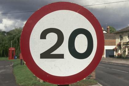 سرعت مجاز 20 مایل بر ساعت