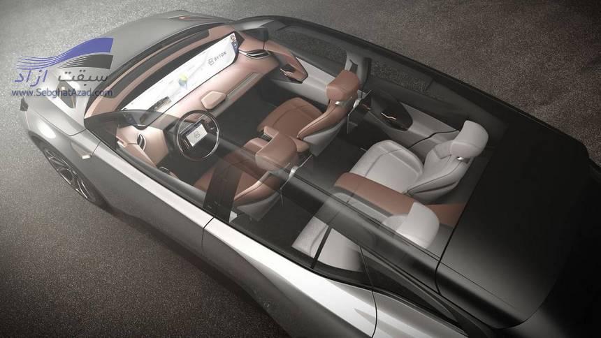 بایتون خودرویی خودران با نمایشگر 48 اینچی و هوش مصنوعی