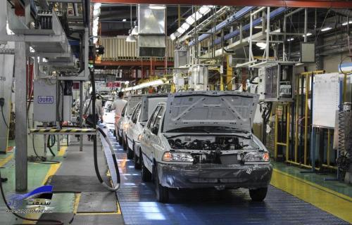 خودروسازان کشور سال جدید را با افت تولید شروع کردند