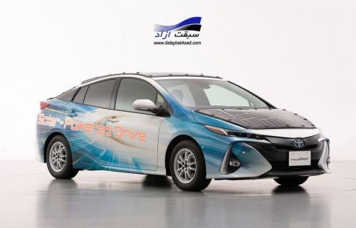 خودروی برقی که سقف آن پنل خورشیدی دارد!
