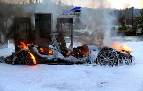 تسلا مدل اس هم مانند پژو 405 خود به خود در آتش میسوزد