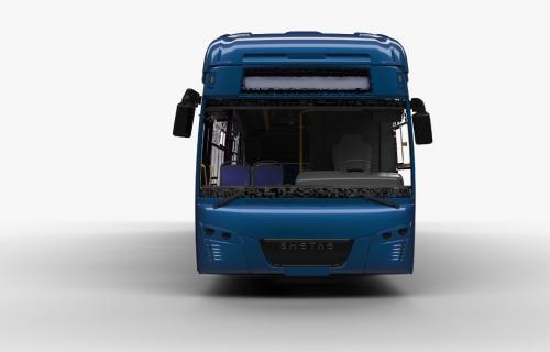 رونمایی مپنا از اتوبوس برقی ایرانی در مشهد
